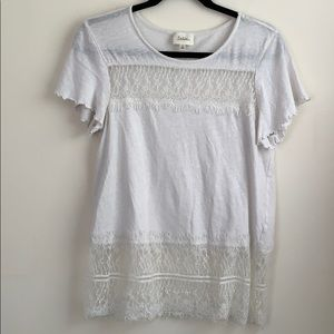 Anthropologie Deletta Lace Tee